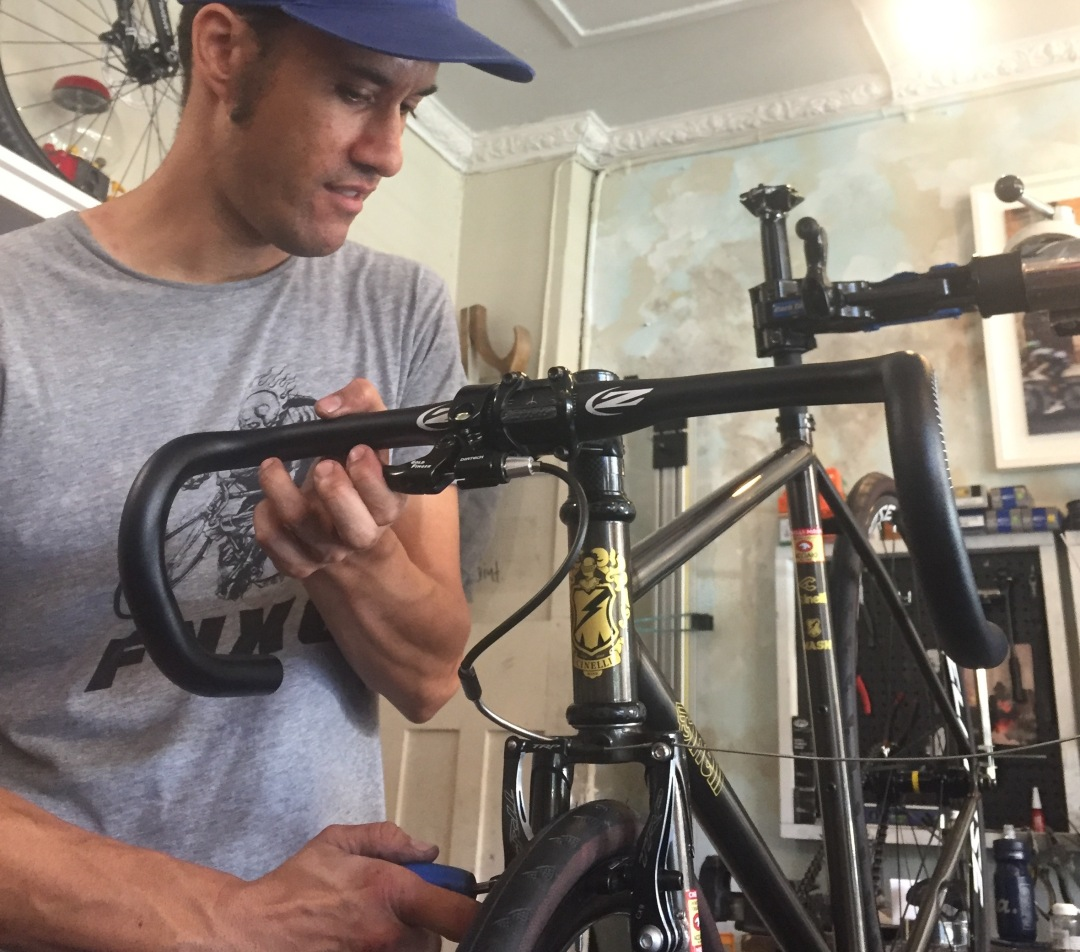 Justin at Chainsmith Bikes Workshop
