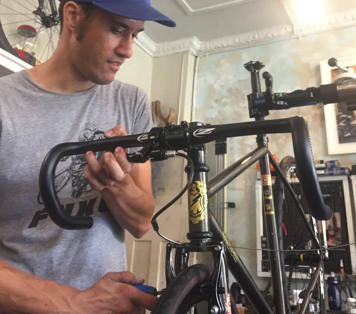 Justin at Chainsmith Bikes Workshop